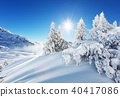 Beautiful winter landscape in the mountains 40417086