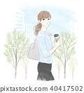 走着咖啡的女人 40417502