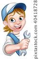 mechanic, spanner, wrench 40418728