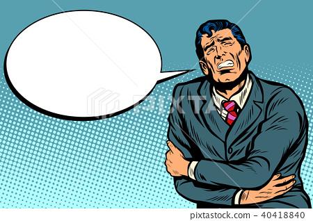 Businessman has a stomach ache 40418840