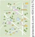 손그림, 지도, 예쁘다 40419175