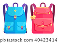 Rucksacks Unisex in Blue and Pink with Pockets 40423414