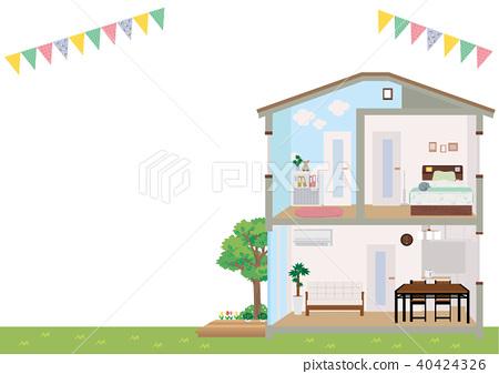 房 獨立式住宅 斷面圖 40424326