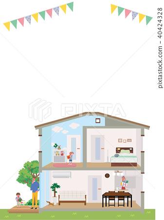 房 獨立式住宅 斷面圖 40424328