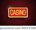 casino, neon, background 40424388