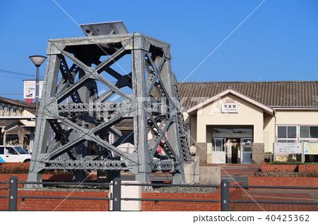Manda Mine object in front of JR Arao Station 40425362