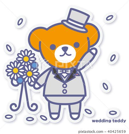 熊 婚禮 燕尾服 40425659