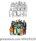 people, vector, business 40429329