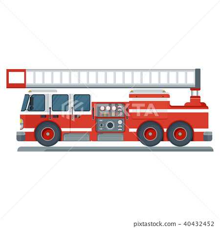 red fire engine 40432452