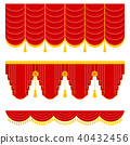 Lambrequin and pelmet for red curtains 40432456