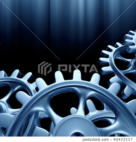 White gears and cogs macro 40433517