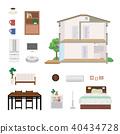 房 獨立式住宅 斷面圖 40434728