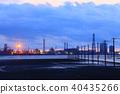 evening scene, factories, factory 40435266