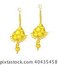 golden and gemstone earrings 40435458