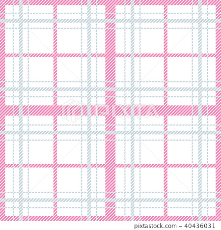Seamless pattern with checkered tablecloth ornament. Pastel colors tartan vector background. 40436031