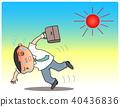 中暑 酷熱 男人 40436836