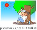 中暑 酷熱 一個年輕成年女性 40436838