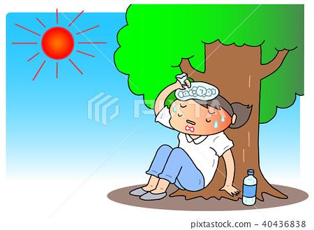 heatstroke, intense heat, female 40436838