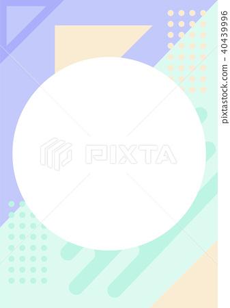 Simple pastel color geometric pattern background 40439996