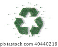 Large group of people forming a recycling symbol 40440219