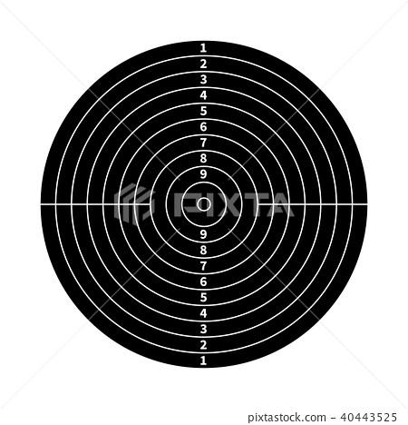 Black score target for shooting practice on white 40443525