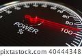 Power meter or indicator. 3D rendering 40444348