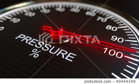 Pressure meter or indicator. 3D rendering 40444349
