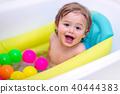 Cute little boy bathing 40444383