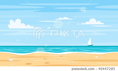 Seamless landscape with sea shore 40447285