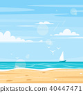 background of sea shore 40447471