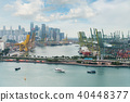 Singapore cargo terminal, one of the busiest port 40448377