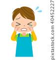 sad sorrowful baby 40452227