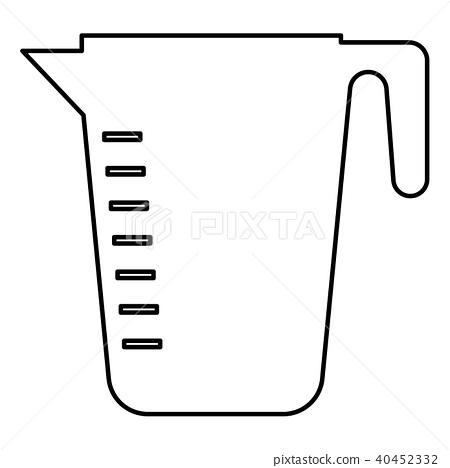 Measuring capacity cup icon black color 40452332