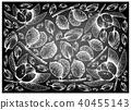 Chalta or Elephant Apple Charichuelo on Chalkboard 40455143
