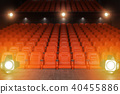 View from the stage of concert hall or theater 40455886