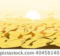 Desert dunes vector  40456140