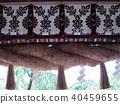 sacred straw ropes, straw festoon, shrine 40459655