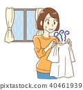 Smell of room drying 40461939