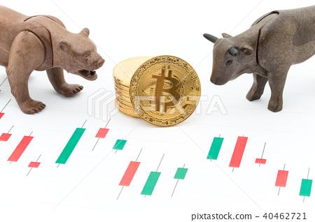 황소와 곰과 비트 코인 : Bullish Bearish Bitcoin 40462721