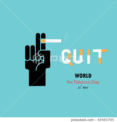 Human hands and cigarette.Quit Tobacco design 40463705