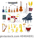 Music Instrument vector illustration set 40464691