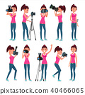 Photographer Female Vector.  40466065