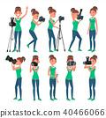 Photographer Woman Vector.  40466066