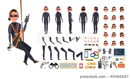 thief hacker vector stock illustration 40466087 pixta pixta