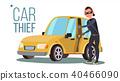 car, thief, vector 40466090