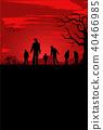 vector, poster, halloween 40466985