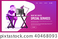 Website Page Vector. 40468093
