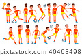 Soccer Man Player Male Vector. 40468498