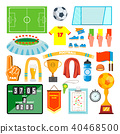 Soccer Icons Set Vector.  40468500