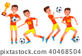 Soccer Male Player Vector. 40468504
